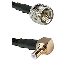 Mini-UHF Male on RG58C/U to SMB Right Angle Male Cable Assembly