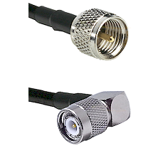 Mini-UHF Male on RG58C/U to TNC Right Angle Male Cable Assembly