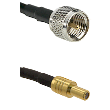 Mini-UHF Male on RG58C/U to SLB Male Cable Assembly
