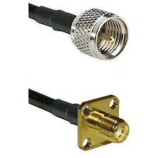 Mini-UHF Male on RG58 to SMA 4 Hole Female Cable Assembly