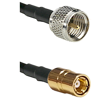 Mini-UHF Male on RG58C/U to SMB Female Cable Assembly