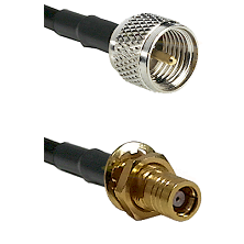Mini-UHF Male on RG58C/U to SMB Female Bulkhead Cable Assembly