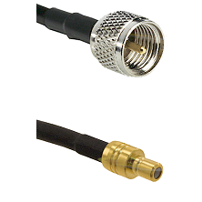 Mini-UHF Male on RG58C/U to SMB Male Cable Assembly