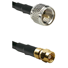 Mini-UHF Male on RG58C/U to SMC Male Cable Assembly