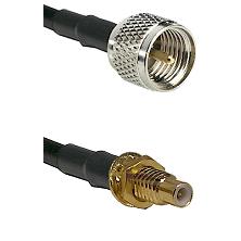 Mini-UHF Male on RG58C/U to SMC Male Bulkhead Cable Assembly
