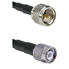 Mini-UHF Male on RG58C/U to TNC Male Cable Assembly