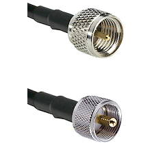 Mini-UHF Male on RG58C/U to UHF Male Cable Assembly
