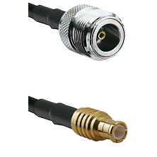 N Female on LMR100 to MCX Male Cable Assembly