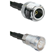 N Female Connector On LMR-240UF UltraFlex To 7/16 Din Female Connector Cable Assembly