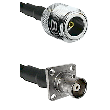 N Female Connector On LMR-240UF UltraFlex To C 4 Hole Female Connector Cable Assembly