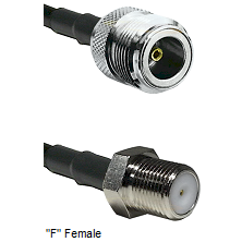 N Female Connector On LMR-240UF UltraFlex To F Female Connector Cable Assembly