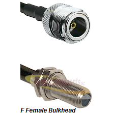 N Female Connector On LMR-240UF UltraFlex To F Female Bulkhead Connector Cable Assembly