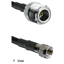 N Female Connector On LMR-240UF UltraFlex To F Male Connector Cable Assembly