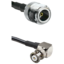 N Female Connector On LMR-240UF UltraFlex To MHV Right Angle Male Connector Cable Assembly