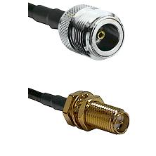 N Female on LMR240 Ultra Flex to SMA Reverse Polarity Female Bulkhead Cable Assembly