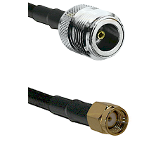 N Female on LMR240 Ultra Flex to SMA Reverse Polarity Male Cable Assembly