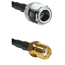 N Female Connector On LMR-240UF UltraFlex To SMA Reverse Thread Female Connector Coaxial Cable Assem