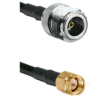 N Female on LMR240 Ultra Flex to SMA Reverse Thread Male Cable Assembly