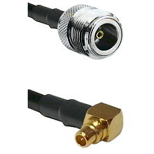 N Female on RG188 to MMCX Right Angle Male Cable Assembly