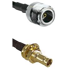 N Female on RG58C/U to 10/23 Female Bulkhead Cable Assembly