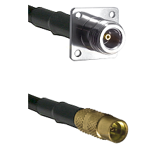 N 4 Hole Female on LMR100 to MMCX Female Cable Assembly