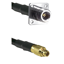 N 4 Hole Female on LMR100 to MMCX Male Cable Assembly
