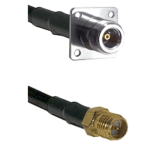 N 4 Hole Female on LMR-195-UF UltraFlex to SMA Reverse Polarity Female Cable Assembly