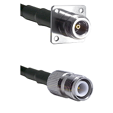 N 4 Hole Female on LMR-195-UF UltraFlex to TNC Reverse Polarity Female Cable Assembly