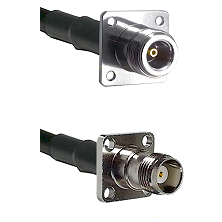 N 4 Hole Female on LMR-195-UF UltraFlex to TNC 4 Hole Female Cable Assembly