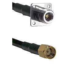 N 4 Hole Female on LMR200 UltraFlex to SMA Reverse Polarity Male Cable Assembly