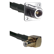 N 4 Hole Female on LMR200 UltraFlex to SMC Right Angle Male Cable Assembly