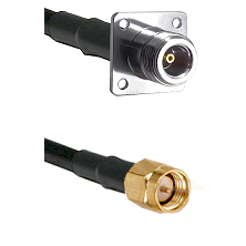 N 4 Hole Female on LMR200 UltraFlex to SMA Reverse Thread Male Cable Assembly
