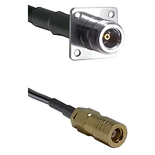 N 4 Hole Female on LMR200 UltraFlex to SLB Female Cable Assembly