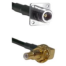 N 4 Hole Female on LMR200 UltraFlex to SLB Male Bulkhead Cable Assembly