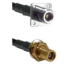N 4 Hole Female on LMR200 UltraFlex to SMB Female Bulkhead Cable Assembly