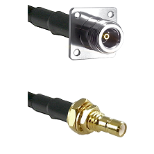 N 4 Hole Female on LMR200 UltraFlex to SMB Male Bulkhead Cable Assembly