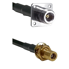 N 4 Hole Female on LMR200 to SSMB Female Bulkhead Cable Assembly