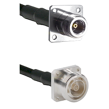N 4 Hole Female Connector On LMR-240UF UltraFlex To 7/16 4 Hole Female Connector Coaxial Cable Assem
