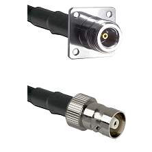 N 4 Hole Female Connector On LMR-240UF UltraFlex To C Female Connector Cable Assembly