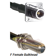 N 4 Hole Female Connector On LMR-240UF UltraFlex To F Female Bulkhead Connector Coaxial Cable Assemb