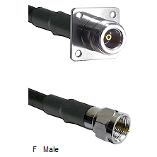 N 4 Hole Female Connector On LMR-240UF UltraFlex To F Male Connector Cable Assembly