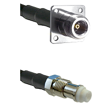 N 4 Hole Female Connector On LMR-240UF UltraFlex To FME Female Connector Cable Assembly