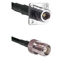 N 4 Hole Female Connector On LMR-240UF UltraFlex To HN Female Connector Cable Assembly