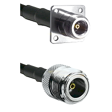 N 4 Hole Female Connector On LMR-240UF UltraFlex To N Female Connector Cable Assembly
