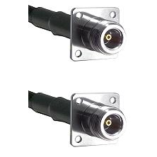 N 4 Hole Female Connector On LMR-240UF UltraFlex To N 4 Hole Female Connector Cable Assembly