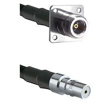 N 4 Hole Female Connector On LMR-240UF UltraFlex To QMA Female Connector Cable Assembly