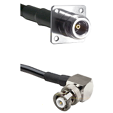 N 4 Hole Female Connector On LMR-240UF UltraFlex To MHV Right Angle Male Connector Coaxial Cable Ass