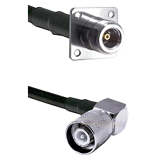 N 4 Hole Female Connector On LMR-240UF UltraFlex To SC Right Angle Male Connector Coaxial Cable Asse