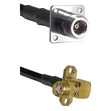 N 4 Hole Female Connector On LMR-240UF UltraFlex To SMA 2 Hole Right Angle Female Connector Coaxial