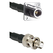 N 4 Hole Female Connector On LMR-240UF UltraFlex To SHV Plug Connector Cable Assembly